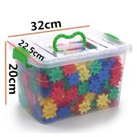 塑料积木桌面玩具幼儿园插片块状积木软体积木数字方块插块