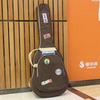 贝塔吉他包41寸40背包民谣袋子古典8加厚琴套个性男女通用双肩盒 米黄色 40寸41寸通用