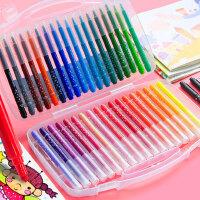 马培德水彩笔套装彩色笔幼儿园儿童画笔小班安全无毒可水洗马德培彩笔大套盒装24色36色画画全套装大盒涂颜色