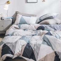 ins简约北欧全棉四件套棉三件套学生宿舍床上用品被套床笠床单 2.0m(6.6英尺)床 @床笠款套件
