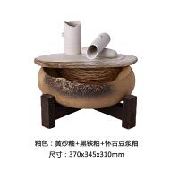 陶瓷流水摆件 流水加湿器 创意家居装饰流水招财 水语花香 1流水1水泵(HJ-211)喷雾小1木架:370*