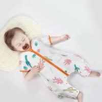 babycare睡袋 薄款婴儿纯棉分腿儿童防惊跳纱布睡袋宝宝防踢被【
