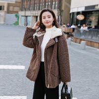 2018流行外套女冬短款加棉加厚时尚大翻领保暖韩版宽松上衣