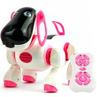新新家族遥控电动狗乐乐 音乐电子早教玩具 数学计算问答 儿童电动智能玩具狗3-7岁