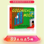 廖彩杏英文原版绘本 0 3岁 Goodnight Moon 晚安,月亮 纸板书 吴敏兰书单 第92本 玛格莉特・怀兹・