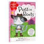 穿长靴的猫 童话学语音 Reading with Phonics Puss in Boots 英文原版绘本 经典童话自