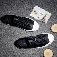 男鞋子韩版潮流皮鞋男休闲鞋男板鞋系带简约男士青年英伦商务单鞋