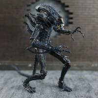 Q-异形狗大战铁血战士alien可动关节人偶电影手办模型汽车载摆 下单送7寸透明支架