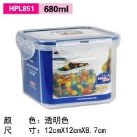 乐扣乐扣 塑料保鲜盒HPL851方形饭盒680ml 便当盒收纳盒 透明