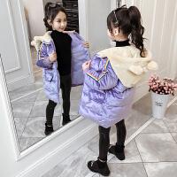 女童秋冬装加厚中长款棉衣2019冬季新款中大童洋气棉袄