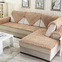 冬季加厚毛毛虫沙发垫毛绒防滑定做皮沙发垫坐垫子四季通用j定制