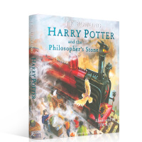 顺丰发货 Harry Potter and Sorcerer's Stone 哈利・波特与魔法石 全彩绘本 精装大开本 J. K. Rowling