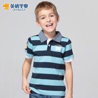 英格里奥童装夏款儿童短袖纯棉T恤LLB9401
