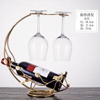 欧式红酒杯架倒挂架子家用葡萄酒杯架现代简约酒柜酒架红酒架摆件