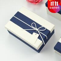 爱丽丝圣诞礼品盒长方形大号文艺小清新复古生日礼盒情人节包装盒抖音