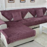 冬季欧式毛绒沙发垫坐垫布艺沙发套巾防滑加厚沙发套巾罩垫子定做