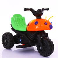 W 儿童电动车摩托车电动三轮车小孩宝宝可坐玩具车男女甲壳虫电瓶车