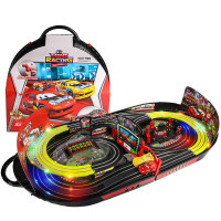 轨道车玩具儿童男孩赛车闪电麦昆汽车小火车总动员套装