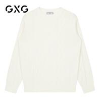 【特价】GXG男装 2021春季休闲潮流多色韩版低领毛衫男GY120401GV