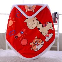 婴儿抱被冬被子婴儿抱被保暖秋冬新生儿包被初生男女宝宝大红色满月抱毯襁褓wk-64