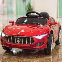 婴儿童电动车四轮带遥控汽车1-3-5摇摆童车宝宝玩具车可坐人BBHTCzf10 烤漆红+推杆+皮座椅+自发电+摇摆 送