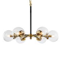 精美护眼时尚简约后现代美式简约客厅卧室吊灯玻璃球艺术餐厅北欧工业风LED铜吊灯精美时尚吊