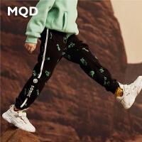 MQD男童针织裤2019秋冬新款韩版加厚中大童保暖裤儿童加绒运动裤