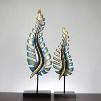 抽象树叶屏风家居装饰品 树脂工艺品批发 创意礼品 欧式摆件家居软饰装饰摆件 两片叶子