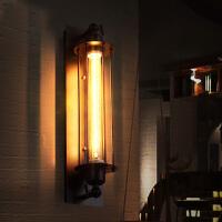 RHloft美式乡村工业风阳台过道铁艺复古爱迪生长笛壁灯理发店发廊 吊灯(送灯源)