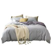 床品套件1.8纯棉双人床60支简约高密全棉双拼高支贡缎四件套素色m定制
