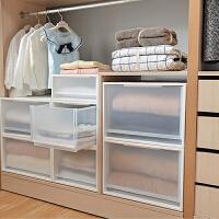 组合式收纳盒抽屉式储物盒衣柜收纳箱塑料透明整理箱衣物收纳柜子 【环保材质*抽屉式收纳箱】