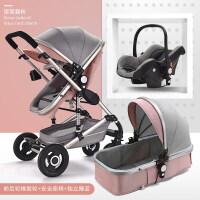 高景观婴儿推车可坐躺双向四轮避震折叠新生儿童手推车宝宝BB冬夏a340zf10