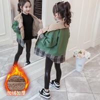 中大童女童冬装外套2019秋冬季新款小女孩时尚洋气加绒加厚童装