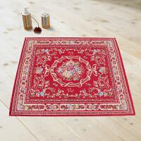 享家多尼尔雕花客厅地毯90*90�M方形 茶几垫 电脑椅垫 地垫