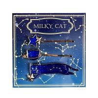 猫与星空发夹动漫二次元周边小樱美少女发饰幸运石柯南