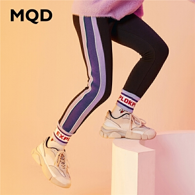 MQD童装加厚女童打底裤2019冬季新款儿童保暖弹力裤