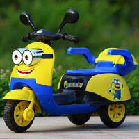 儿童电动车摩托车小孩三轮车宝宝玩具婴儿童车1-6岁充电车车 早教款大电瓶行驶 4-6小时