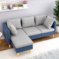 布艺沙发小户型客厅沙发转角三人沙发欧式沙发床家具组合套装 多人