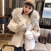 2018新款韩国超大毛领羽绒服女短款收腰加厚显瘦时尚修身冬装外套