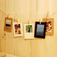 日照鑫 包邮 欧式日韩创意悬挂纸相框\含麻绳夹子照片墙 CCK-002(2个装)