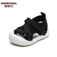 夏季婴幼儿软底包头学步鞋网面透气凉鞋1-3岁男女小童宝宝鞋子