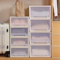 抽屉式收纳柜透明塑料收纳箱衣柜储物箱衣物收纳盒收纳整理箱衣柜收纳盒