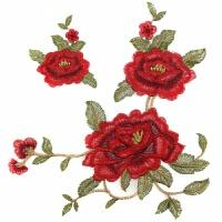 时尚刺绣梅花布贴大号牡丹花补丁贴衣服装饰辅料中国风旗袍装饰