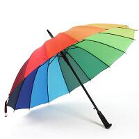 【满赠】雨伞遮阳伞超大雨伞长柄伞自动雨伞彩虹伞创意雨伞双人雨伞防晒太阳伞阻隔紫外线