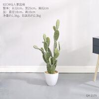 北欧创意大型仿真植物盆景客厅室内装饰仙人掌盆栽假绿植落地摆件