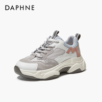 Daphne/达芙妮2020春新款运动鞋小虎牙舒适厚底老爹鞋百搭休闲鞋