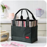 饭盒袋手提包韩版清新保温防水帆布饭袋子女大号装提带饭的便当包