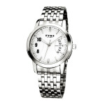 2018新款  EYKI艾奇 韩版时尚夜光日历手表 钢带之男8408白色