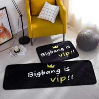 地毯客厅欧式家用多功能长条门垫厨房卧室床边复古短毛绒地垫卡通防滑脚垫