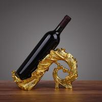 孔雀红酒架摆件 酒柜装饰品 时尚创意树脂酒托 直销